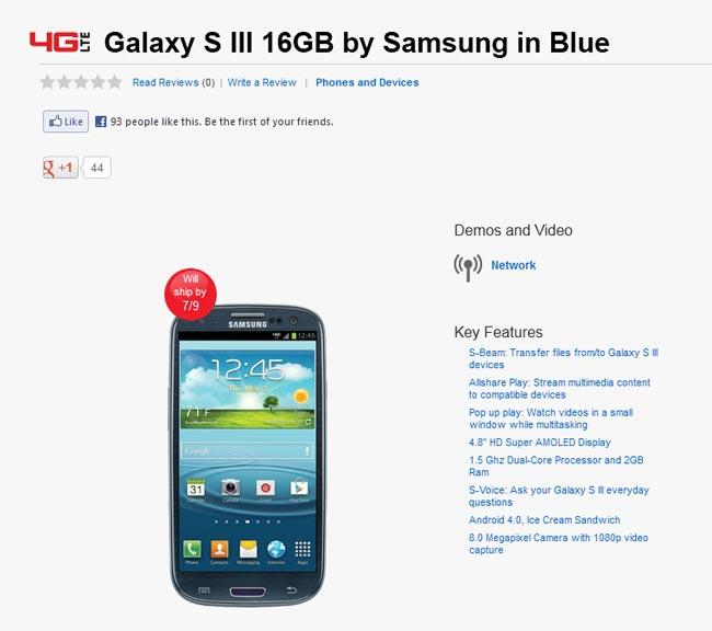 Verizon Galaxy S III