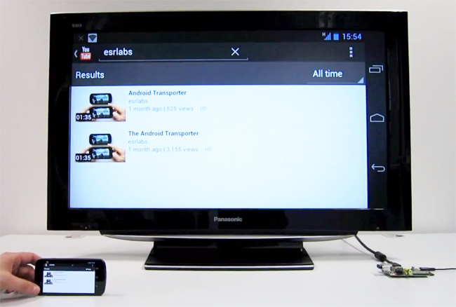 Android Transporter Raspberry Pi