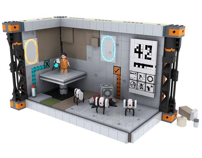 Lego Portal  Decals - Portal 2 wall decals