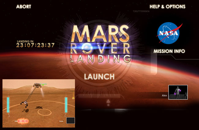 mars curiosity landing simulation -#main