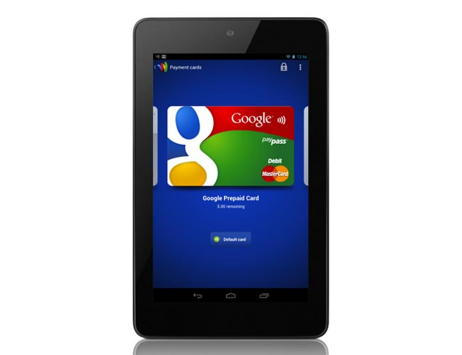 Nexus 7 Google Wallet