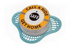 Talking urinal cakes remind drunk customers to call a cab
