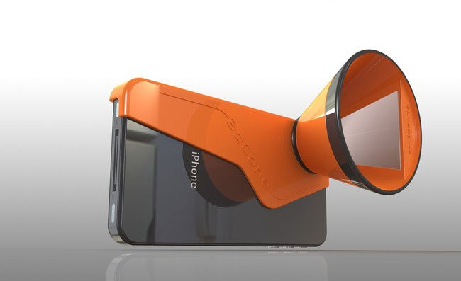 3D Cone Stereoscopic iPhone Camera Adapter