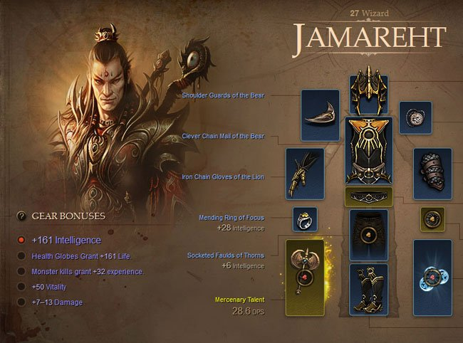 Diablo III Hero Profiles Arrive