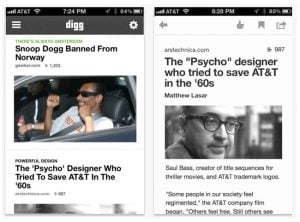 Digg iOS App Updated