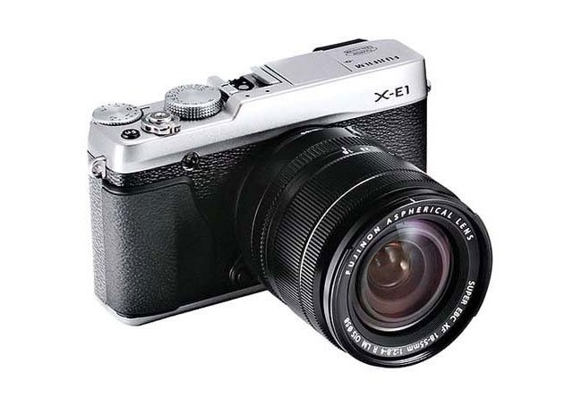 It also look like the Fujifilm X-E1 will be equipped with a electronic