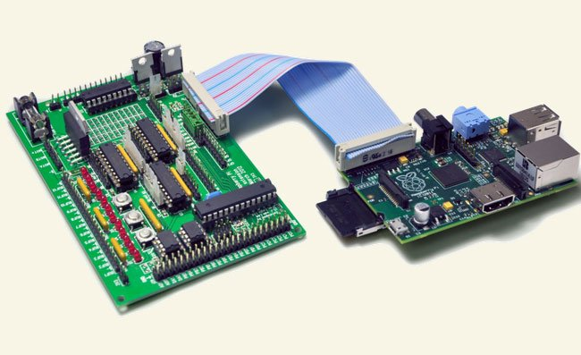 Gertboard transforms a raspberry pi mini pc into an