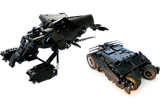 awesome lego dark knight batman motorised bat and tumbler video. Black Bedroom Furniture Sets. Home Design Ideas