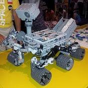 Lego Curiosity Mars Rover (video)