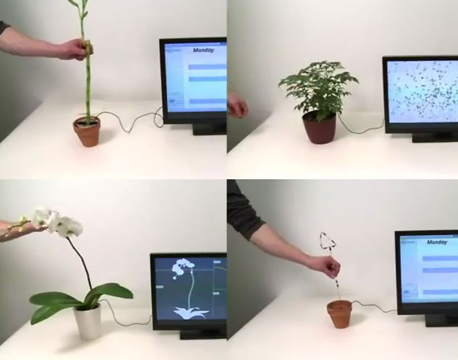 Plant Gesture Controllers