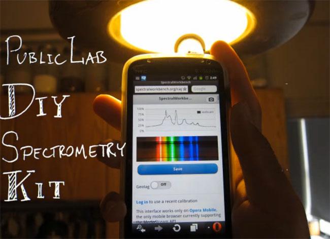 Public Lab DIY Spectrometry Kit