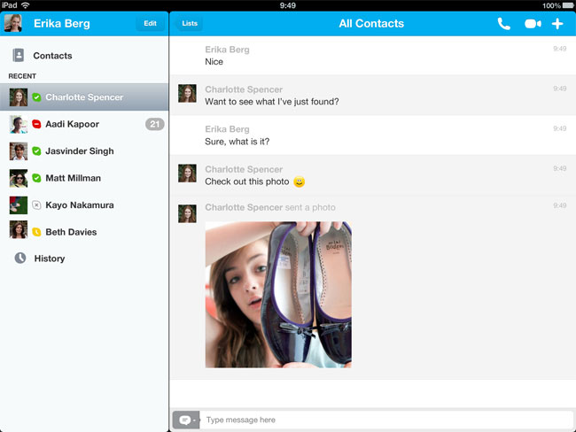 Skype Photo Sharing