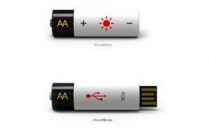 USB Flash Drive Battery Concept