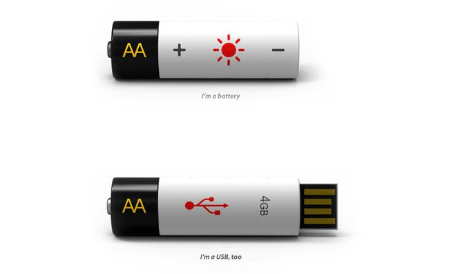USB Flash Drive Battery Concept