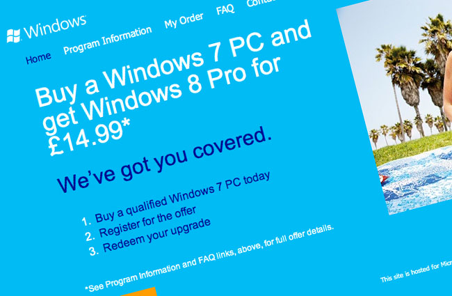 Window 8 Upgrade Registration