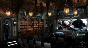 Batcave home theater is awesome