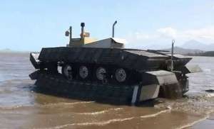 DARPA's floating CAAT tankboat hits the water