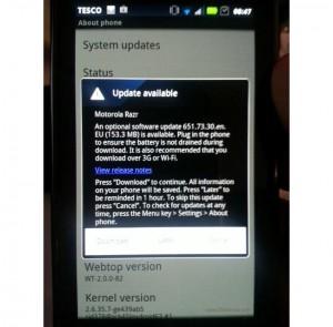 International Droid RAZR Gets Android 4.0 ICS Update