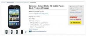 Samsung Galaxy Stellar leaked by Best Buy