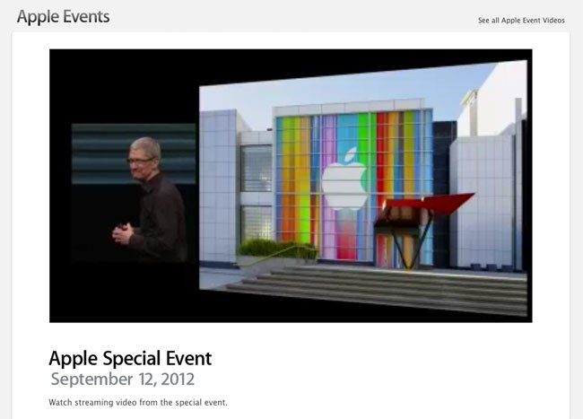 Apple Special Event Sept 12 2012