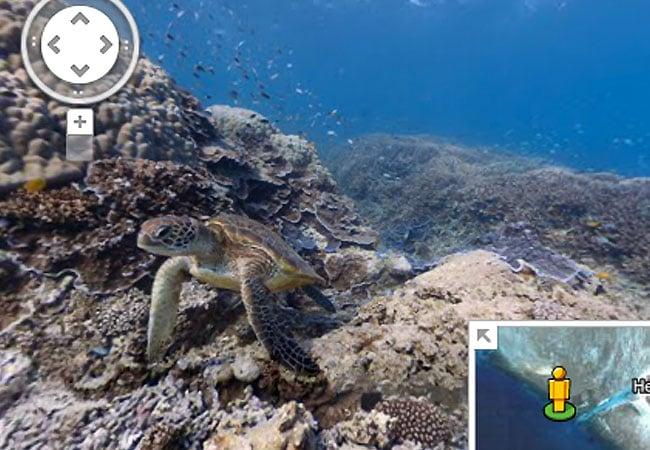 Google Street View Underwater Images
