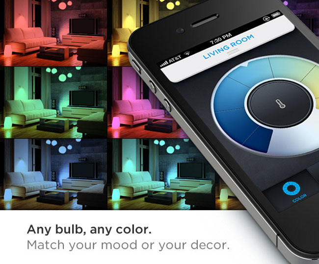 LIFX Smartphone Controlled Colour Changing Lightbulb