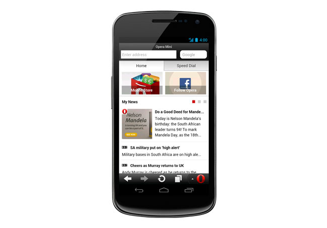 Opera Mini 7.5 For Android
