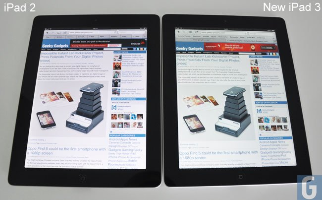 difference between ipad2 and 3