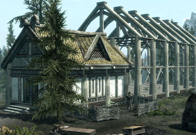 The new Skyrim Hearthfire DLC has been created by Bethesda to enabled