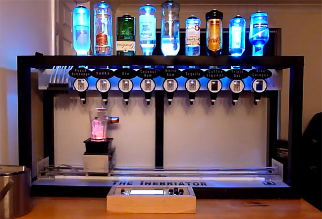 The Inebriator Arduino Powered Robot Bartender