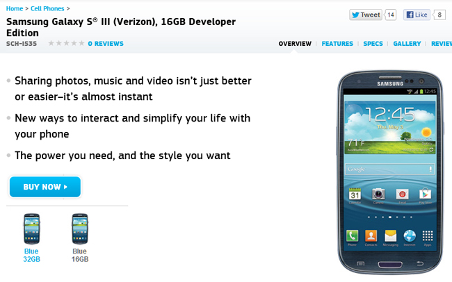 Galaxy S III Developer