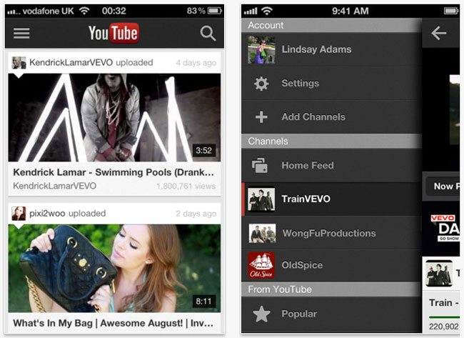 YouTube iOS App