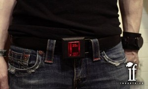 Arcade coin slot belt buckle