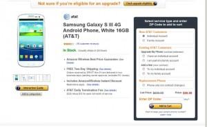 Samsung Galaxy S III Dropped To $99 On Amazon Wireless