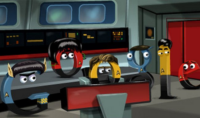 Google Doodle Shows Off Star Trek | Techdigg.info