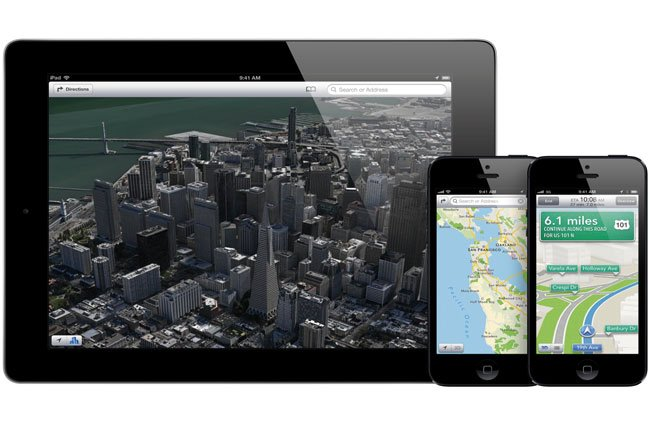 iOS 6 maps app