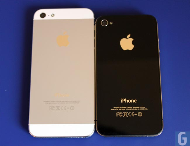 difference between iphone 4s and 5