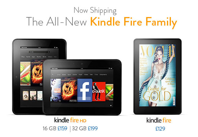 Amazon Kindle Range