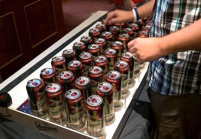 Beer Can Keyboard