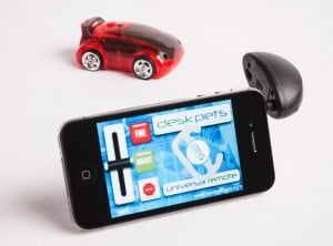 DeskPets CarBot Smartphone Controlled Cars (video)