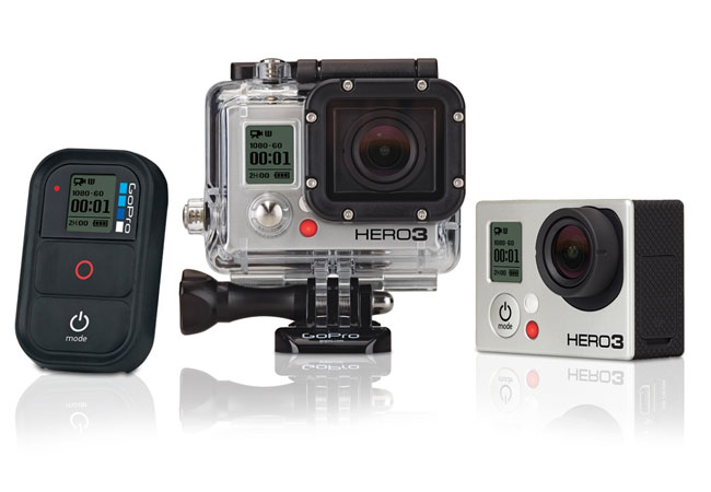 gopro hero 3 action cameras unveiled. Black Bedroom Furniture Sets. Home Design Ideas