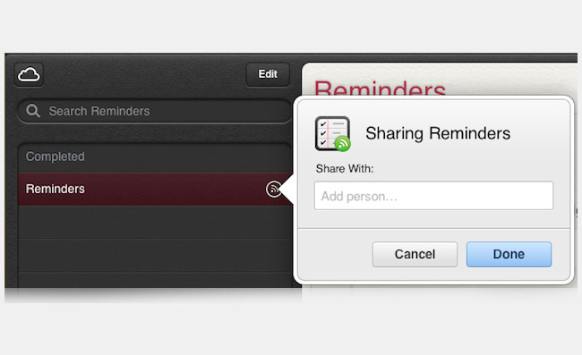 Shared Reminders