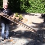 Slingshot Master Joerg Sprave Creates Massive 165cm Long Slingshot (video)
