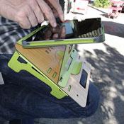 Tabzu Eco-friendly iPad Cradle (video)