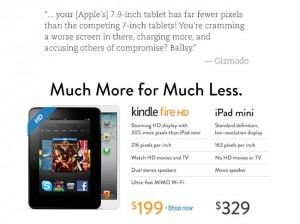 Amazon Takes A Swipe At Apple's New iPad Mini