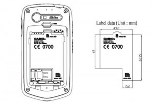 Casio C811 G'zOne spotted at the FCC