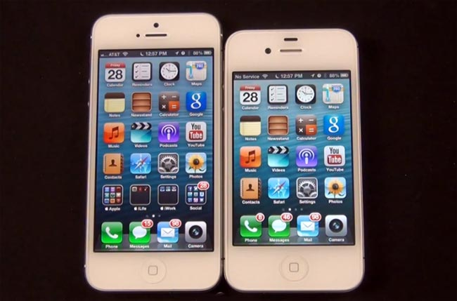 iphone 4s vs iphone 5 iphone 4s vs iphone 5 side by side comparison 17358