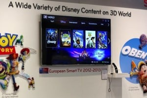 LG's Smart TV platform rents out Disney 3D movies