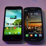 Asus Padfone 2 vs Samsung Galaxy S III (Video)