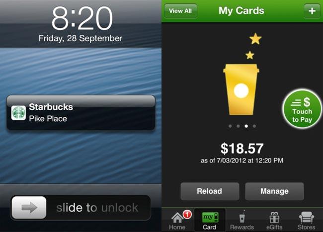 Starbucks iOS